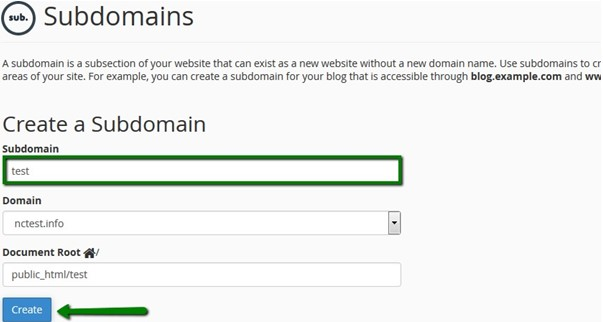 what is a subdomain example