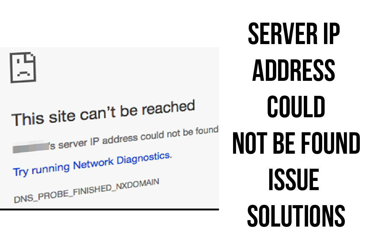 server ip address could not be found mac