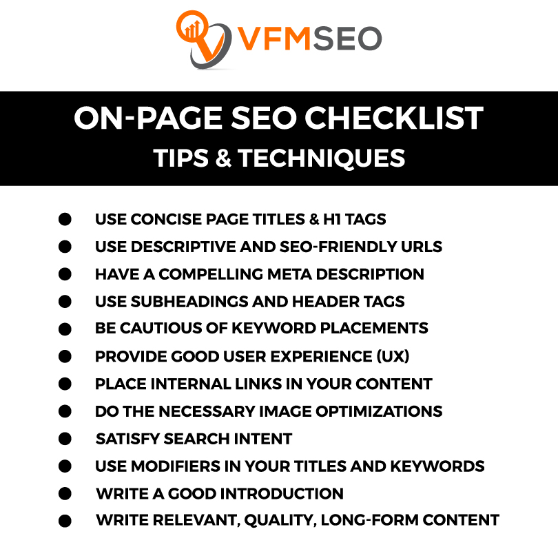 On-page Seo Checklist For Blog